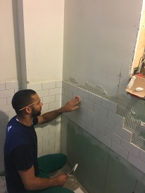 #Mamais workforce installing #ceramic #tiles. What's your next #project? Call us today! bit.ly/1gcjWeK