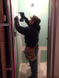 #Mamais workforce installing #drywall on #metal #frame. What's your next #project? Call us today! http://bit.ly/1gcjWeK