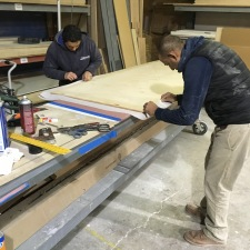 #Mamais millworkers #fabricating #custom #wall #panels. What's your next #project? Call us today! http://bit.ly/1gcjWeK