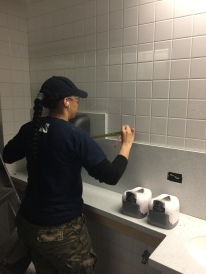 #Mamais workforce installing #bathroom accessories. What's your next #project? Call us today! http://bit.ly/1gcjWeK