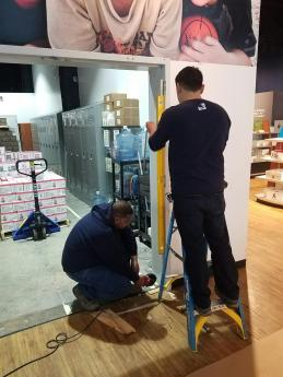 #Mamais workforce installing #door #frame. What's your next #project? Call us today! http://bit.ly/1gcjWeK