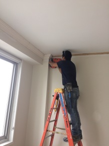 #Mamais workforce installing #crown #molding. What's your next #project? Call us today! http://bit.ly/1gcjWeK