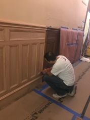 #Mamais workforce installing #custom #wainscoting. What's your next #project? Call us today! http://bit.ly/1gcjWeK