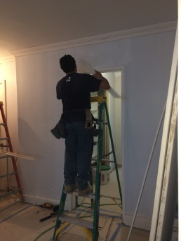 #Mamais workforce installing #door #trim. What's your next #project? Call us today! http://bit.ly/1gcjWeK