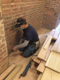 #Mamais workforce installing #hardwood #flooring. What's your next #project? Call us today! bit.ly/1gcjWeK