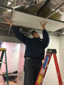#Mamais workforce installing #acoustical drop #ceiling. What's your next #project? Call us today! bit.ly/1gcjWeK