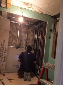 #Mamais workforce installing #cement boards. What's your next #project? Call us today! bit.ly/1gcjWeK