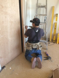 #Mamais workforce installing #door #hardware. What's your next #project? Call us today! bit.ly/1gcjWeK