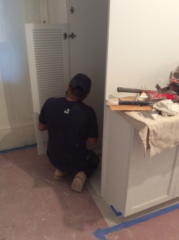 #Mamais workforce installing #louver #doors. What's your next #project? Call us today! bit.ly/1gcjWeK