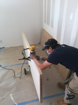 #Mamais workforce preparing #door for #installation. What's your next #project? Call us today! bit.ly/1gcjWeK