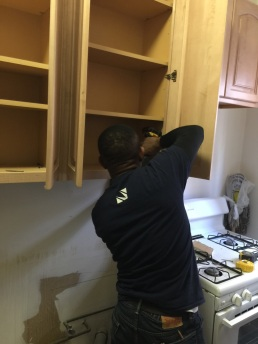 #Mamais workforce installing #kitchen #cabinets. What's your next #project? Call us today! bit.ly/1gcjWeK