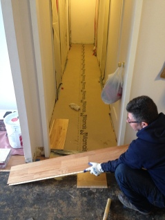 #Mamais workforce installing #prefinished #flooring. What's your next #project? Call us today! http://bit.ly/1gcjWeK