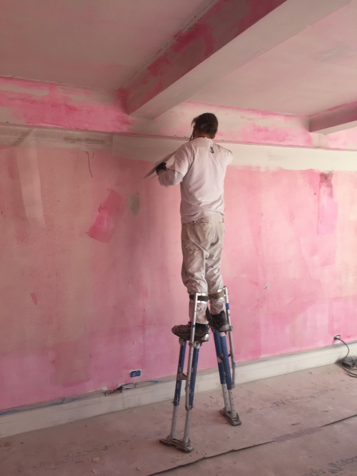 #Mamais workforce preparing #walls for #skimcoat. What's your next #project? Call us today! bit.ly/1gcjWeK