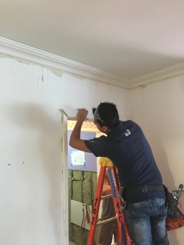 #Mamais workforce installing #door #trim. What's your next #project? Call us today! bit.ly/1gcjWeK